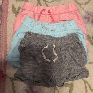 3pair Gap jersey shorts sz 8